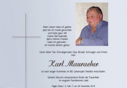 Karl Mauracher